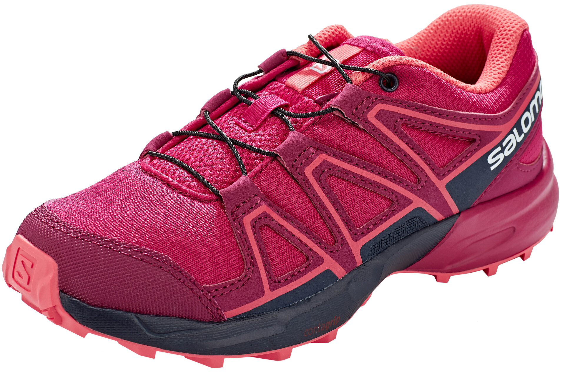 Salomon Speedcross Chaussures running Enfant, cerise.navy blazerdubarry